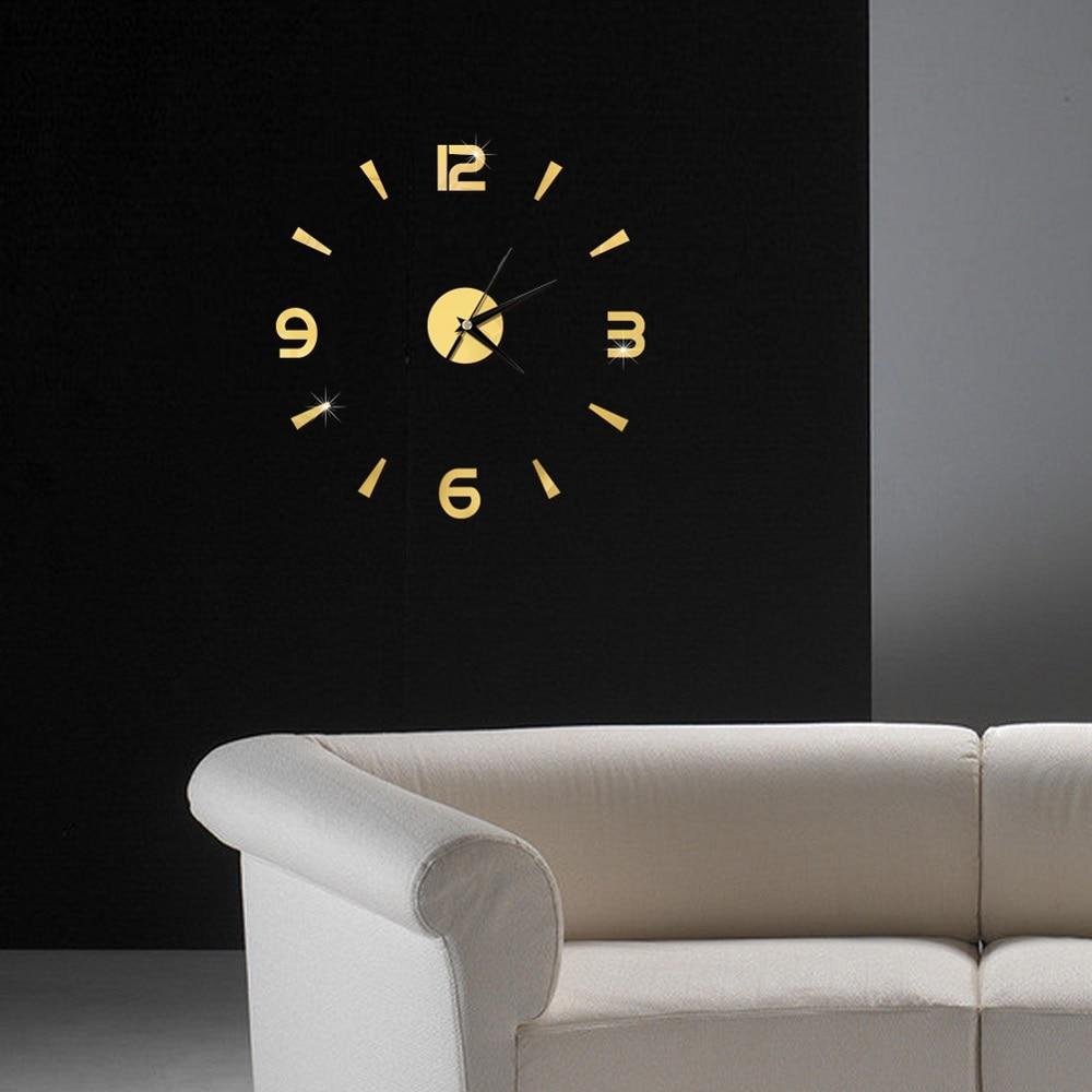 2019 New 3D Wall Clock Mirror Wall Stickers Fashion Living Room Quartz Watch DIY Home Decoration Clocks Sticker reloj de pared 6