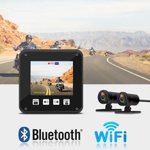 VSYSTO A6F WIFI front sony323 1080p full hd waterproof motorcycle DVR 2.0 inch mini dash camera build in g-sensor support GPS