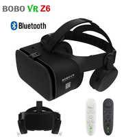 BOBO VR Z6 3D Glasses Upgrade Bluetooth Virtual Reality Glasses Box Google Cardboard Wireless VR Headset Helmet for 4.7-6.5 inch