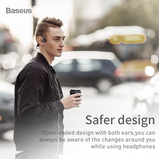Baseus C10 Bluetooth Earphone For iPhone Xiaomi Music Earphone Wireless Headset 5.0 Bluetooth Wireless Headset With Music