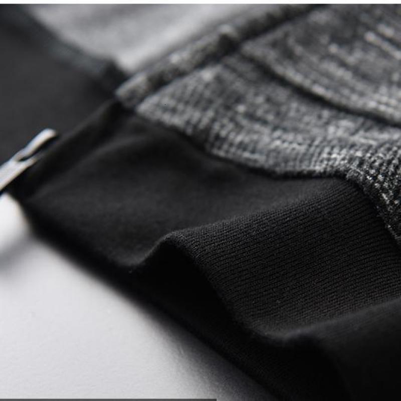 Толстовка мужская осень новая Пряжа окрашенная молния толстовки высокое качество мода Slim Fit серый с капюшоном толстовки для мужчин - 6