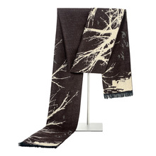 2020 New Brand Men's Abstract Tree Cashmere Scarf Winter Warm Knitted Modal Business Men Scarves 180*31cm