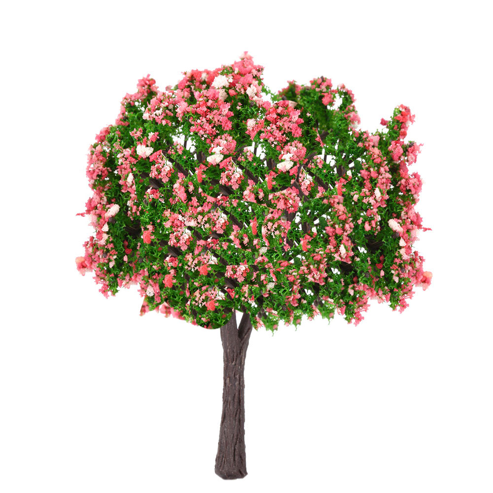 1pcs Plastic Christmas Decoration Peach Trees Model Train Railroad Scenery Scale 1:75 - 1:500 Model Building Kits Gifts Sets