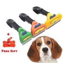 Dog Grooming Brush Dog Comb Pet Brush Shedding Tool Comb Edge Trimming Dog Cat Fur Removal Rake fur brush dele q 003 dog comb pet brush rake metal blade