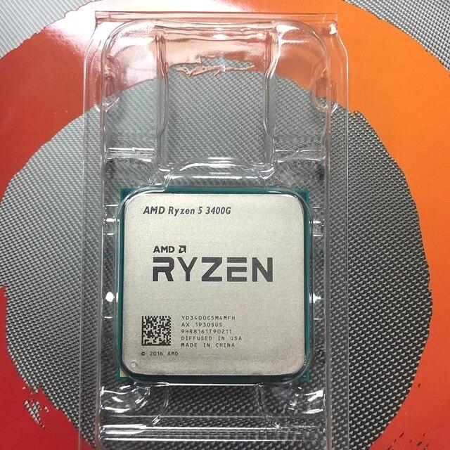 AMD Ryzen 5 3400G R5 3400G 3,7 GHz Quad Core Acht Gewinde 65W CPU Prozessor YD3400C5M4MFH Buchse AM4
