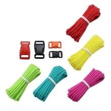 7 прядей пряжки для параконда комплект парашютный шнур веревка для DIY плетеный браслет Подвеска одежда