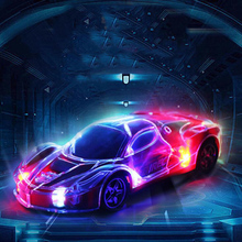 1:24 RC Car High-Speed Remote Control Racing 3D Lighting Four-Way Childrens Toy Gift