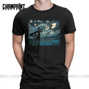 Camisetas de fantasía estrellada Van Gogh Final Fantasy para hombre, retrato Vincent Pop, juego de Arte de algodón, divertidas camisetas de manga corta, camisetas de regalo