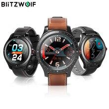 [Bluetooth 5.0] blitzwolf BW HL2 relógio inteligente 1.3 full tela de toque completa redonda freqüência cardíaca pressão arterial monitor o2 ip67 smartwatch