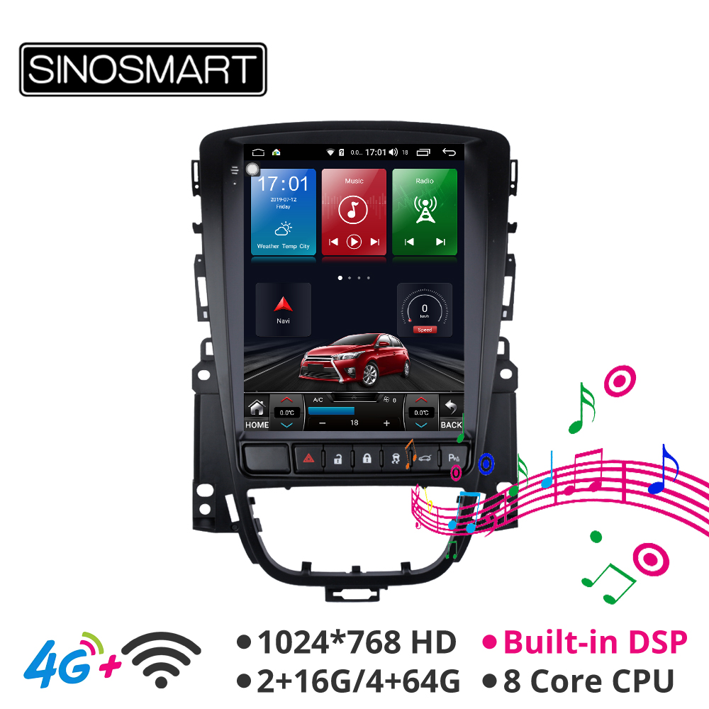 Sinosmart Andriod 8.1 Tesla style Vetical screen car gps multimedia radio navigation player for Excelle XT/GT ASTRA J 2006 2016|Car Multimedia Player| |  - title=