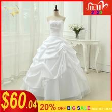 Robe De mariée à paillettes, ligne A, appliques, robe De mariée blanc ivoire, grande taille, modèle 2020