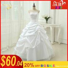 งานแต่งงานชุดสายVestido De Noiva Applique Sequins Sweetheart CasamentoสีขาวIvory Plusขนาด 2020 ชุดแต่งงานOW 2043