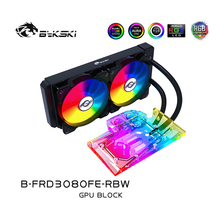 Water-Block Bykski-Gpu NVIDIA Founders-Edition Geforce Rtx 3080 Led-Light with Pump/2pcs