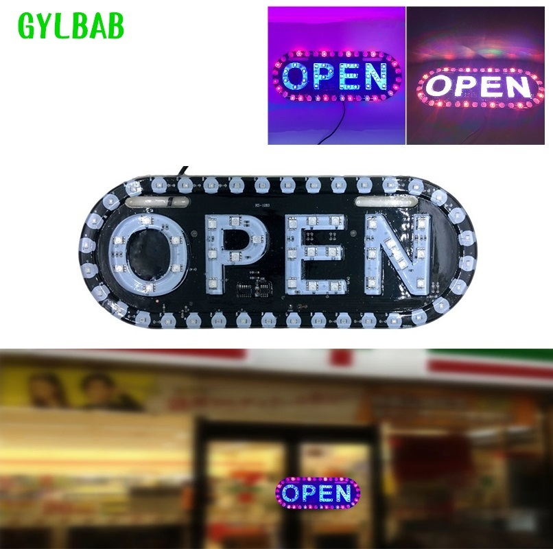 لافتات الإعلان led مجلس عرض LED فتح العمل لراية المحل
