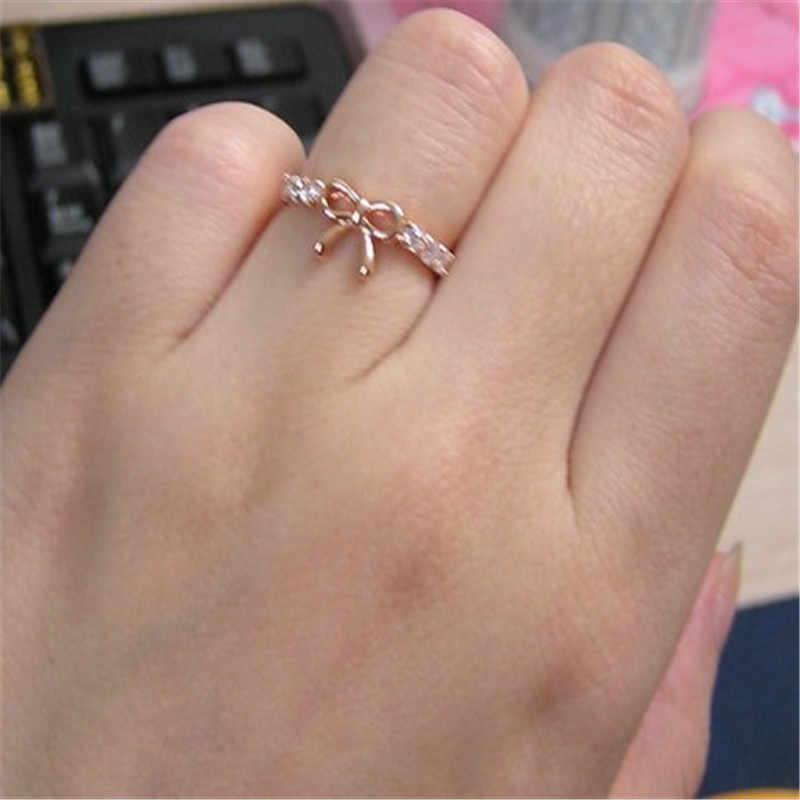 2019 Rose Gold แหวนคริสตัลสำหรับผู้หญิงเครื่องประดับน่ารักแหวนแฟชั่นผู้หญิงแหวนสุภาพสตรีแหวนหมั้นสำหรับหญิงของขวัญ