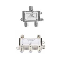 Image 1 - 5 2400MHz 4 웨이 HD 디지털 동축 케이블 분배기 4 채널 위성/안테나 TV 신호 분배기 수신기 SATV/CATV X6HB