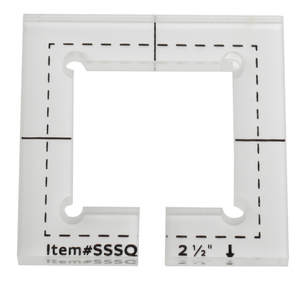 Image 3 - For straight edge or stitching in the ditch foot #SSSQ 3mm#SSSQ 5.8mm Acrylic Patchwork Quilting Template Ruler Square Longarm