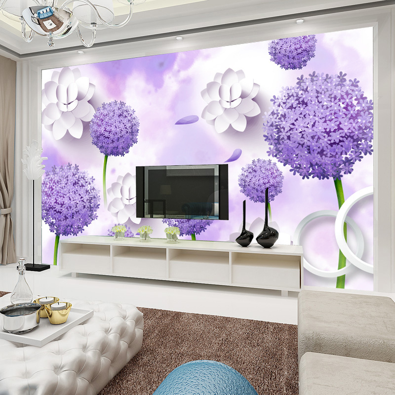 Seamless Large Mural 3D Living Room Sofa Bedroom TV Wall Background Wallpaper Non-woven Wallpaper Wall Cloth