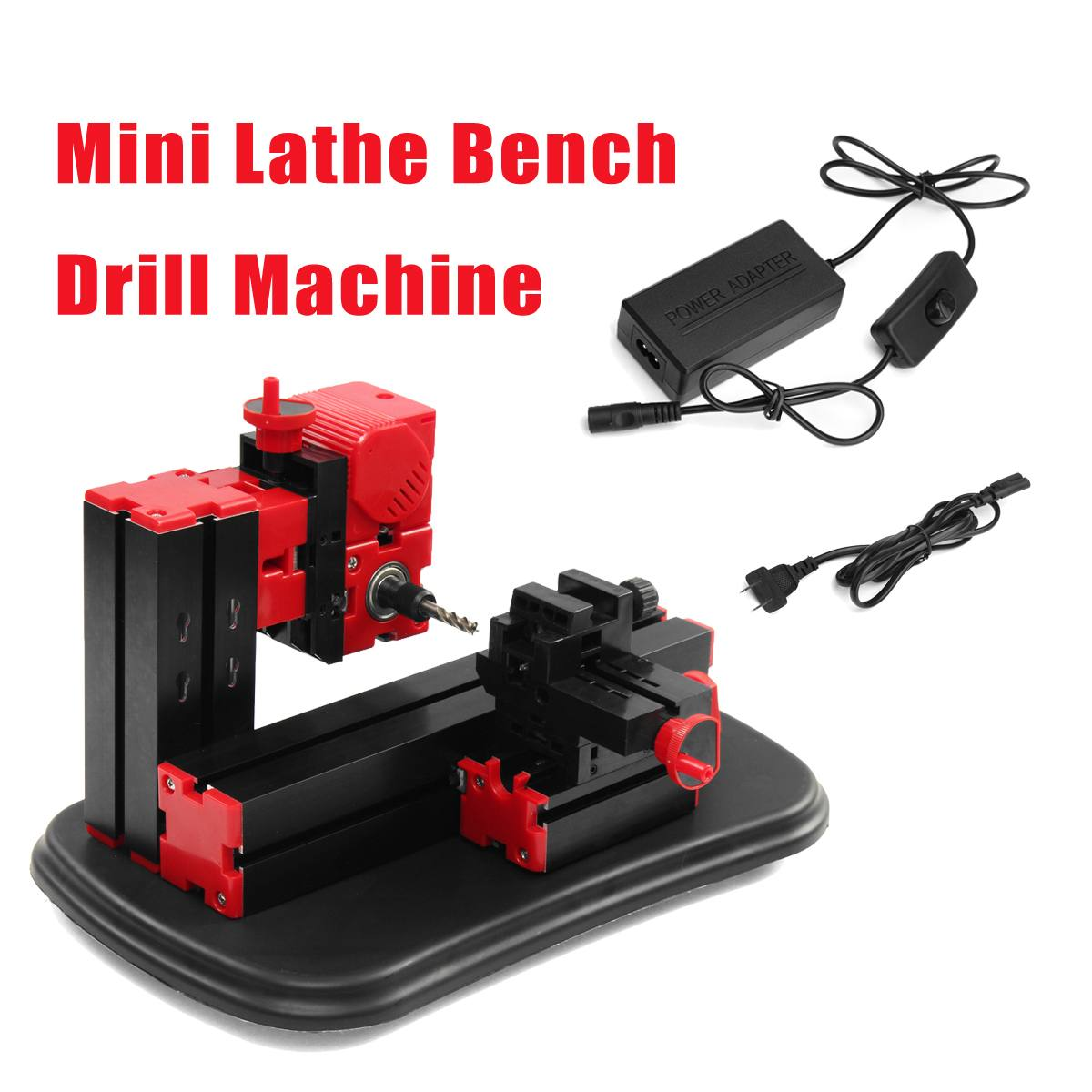 100 240V Mini Lathe Milling Machine  Drill Machine Electric Drill DIY Woodworking  Tool|Electric Drills| |  - title=