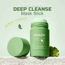 1PC Poreless Deep Cleanse Mask Stick Natural Ingredients Moisturizing Control Oil Green Tea Solid Cleansing Face Mask Stick