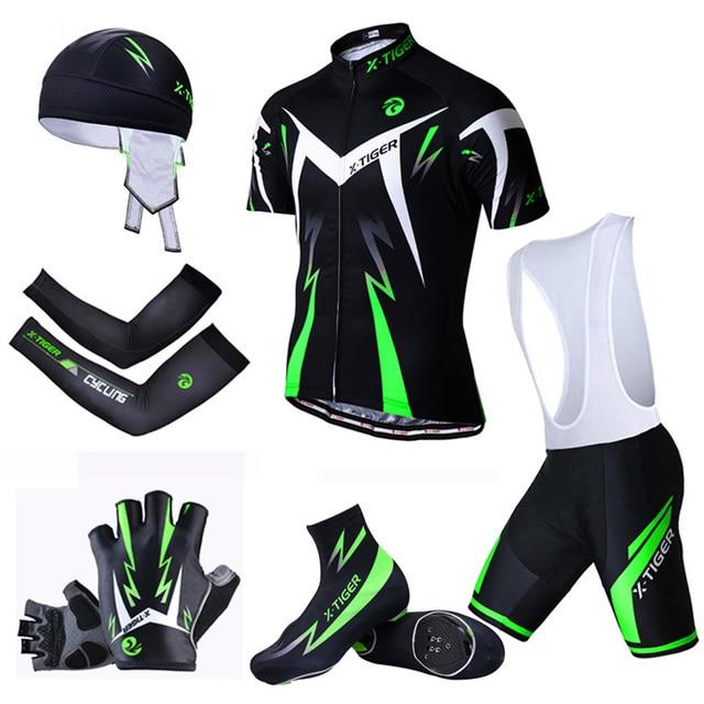 X-tiger big cycling set mtb bike clothing racing bicycle clothes uniform summer cycling jersey sets quick-dry bicycle kits