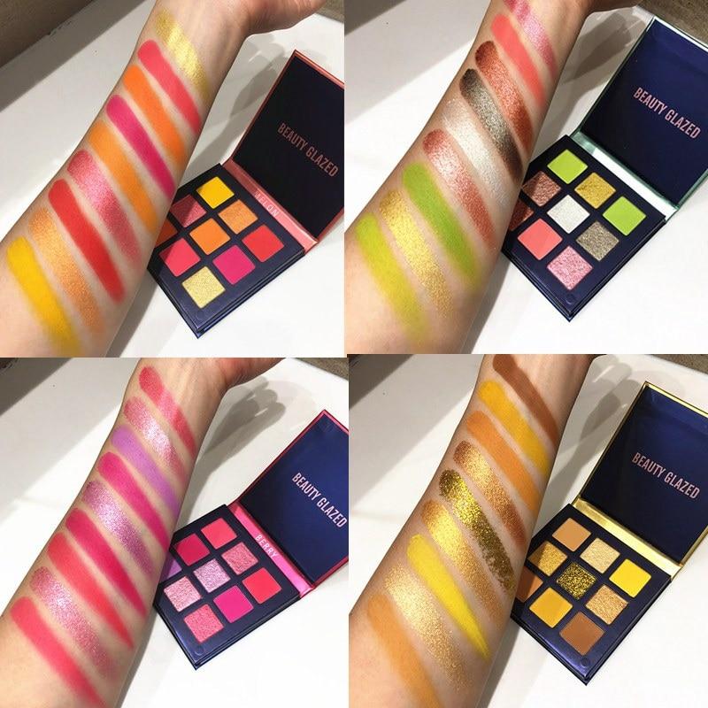 Beauty Glazed Palette colors on the arm