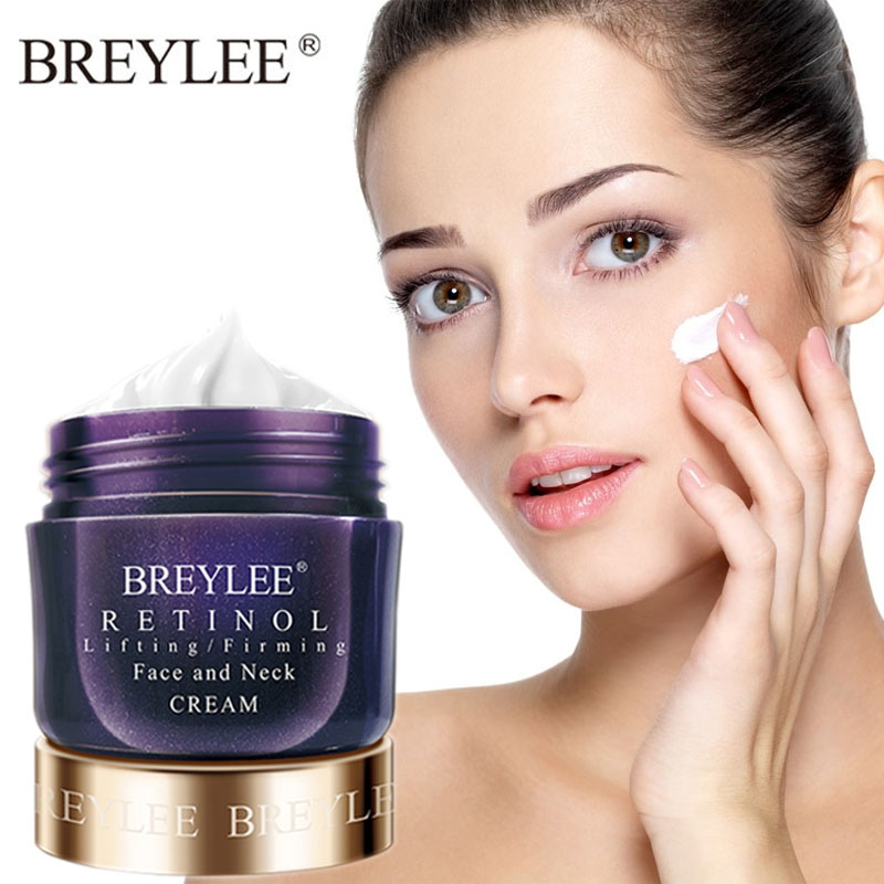 BREYLEE Retinol Firming Face Cream Lifting Neck Anti-Aging Removing Wrinkles Night Day Moisturizer Whitening Face Skin Care 40g 6