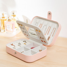 Jewelry-Box Mirror Necklace Korean-Style Hot-Selling Portable 2-Layers with Hook Fashion-Design