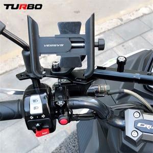 Image 3 - สำหรับKawasaki Versys 650 1000 X300 2008 2019รถจักรยานยนต์CNC Handlebarกระจกมองหลังผู้ถือโทรศัพท์มือถือขาตั้งGPS Bracket
