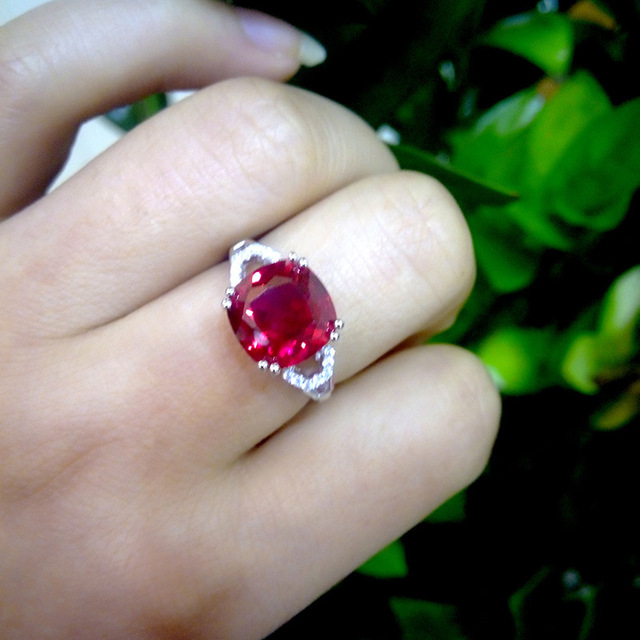 Bague Ringen New 100% 925 Sterling Silver Natural Ruby Sapphire Emerald Gemstone Wedding Engagement Cocktaill Ring Jewelry Gift 4