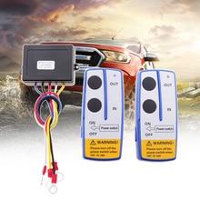 1 セット車ワイヤレスウインチリモコンデュアルスイッチ 30 メートル電源で/アウトから制御のための 4 × 4 atv utv クワッド suv ジープ車のアクセサリー