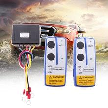 Treuil sans fil pour voiture | Télécommande, double interrupteur, 30m de commande d'alimentation/sortie, pour 4x4 ATV UTV Quad SUV, accessoires de voiture Jeep