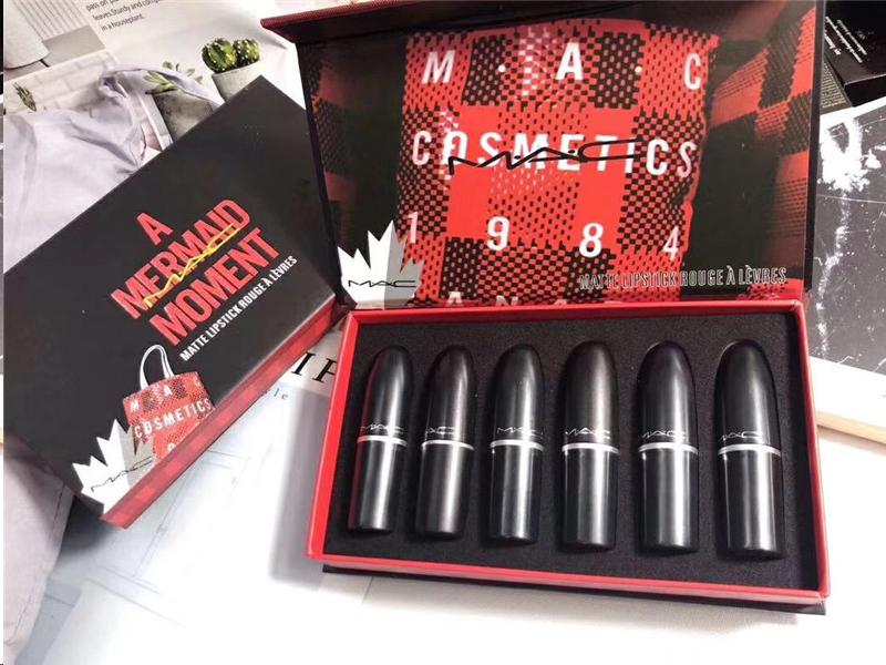 Macing Professional Makeup Sexy Limited Set Multi-function Matte Lipstick Matte Shimmer Lip Stick Lip Gloss 1Set