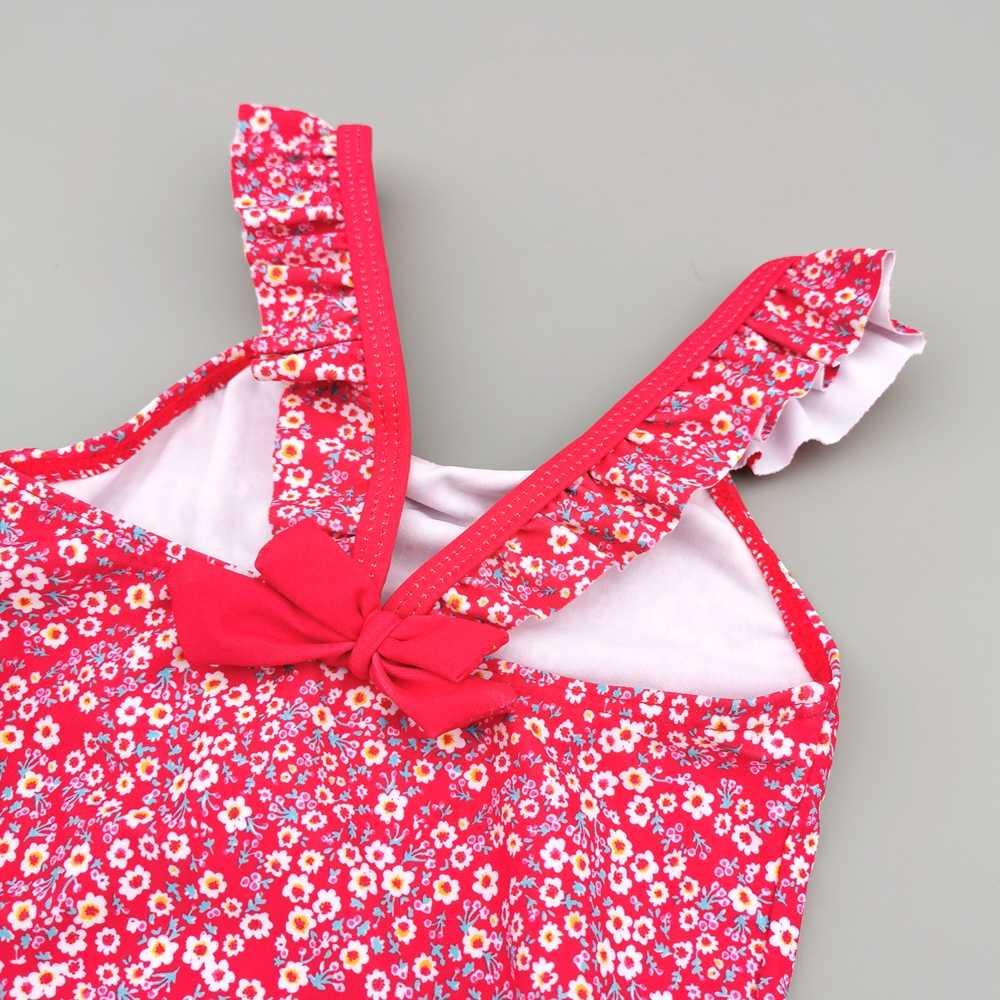 Chumhey 6-24M bebé niñas bañador verano Bebe una pieza traje de baño infantil ropa de playa traje de baño Swan traje de baño