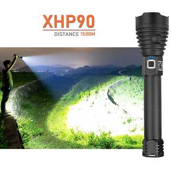New XHP90 LED Most Powerful Flashlight USB Torch 18650 Or 26650 Tactical light Waterproof Zoom Extensible Defense Camping Lamp - DISCOUNT ITEM  48% OFF All Category