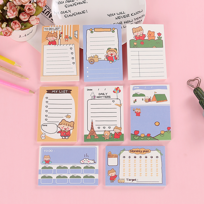 50 Pages/Pack Cute Little Girl's Travel Diary Memo Pad Paper Notepad School Office Supply Student Stationery Kid Gift