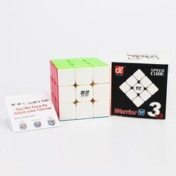 Профессиональный магический куб QiYi Warrior W 3х3х3, кубик-воин, паруса, cubo magico, скоростные Кубики-пазлы, игрушки для детей