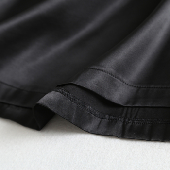 2019 Spring Summer Women High Waist Satin Skirt Metallic Color Long Skirt Shiny Silk Imitation Midi Skirt Silver Black 6