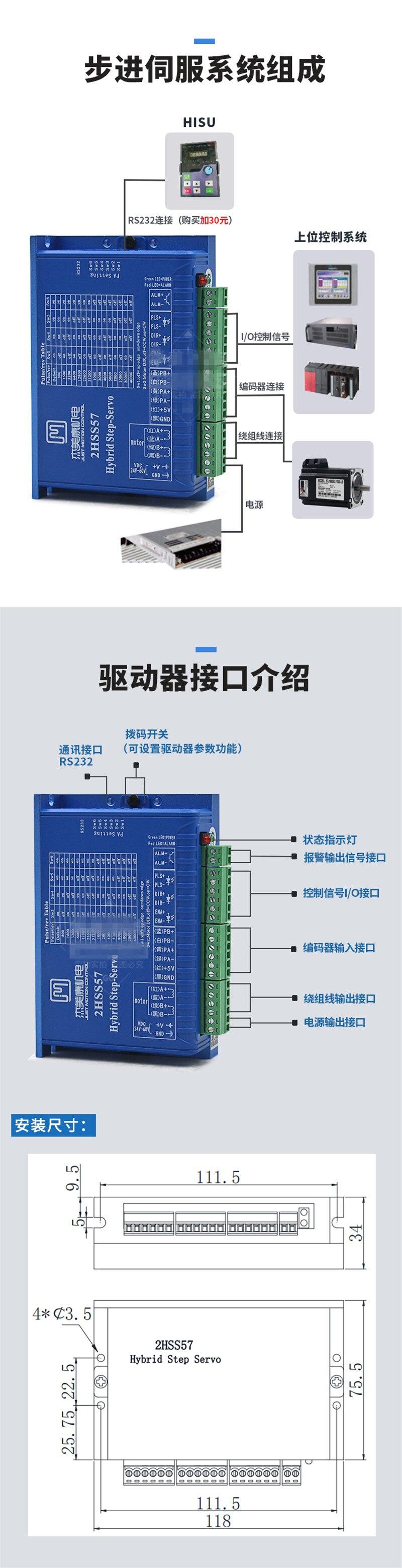 NEMA23 2.2NM JMC 2 Pha 57 Vòng Kín Động Cơ Bước Điều Khiển CNC Bộ ...
