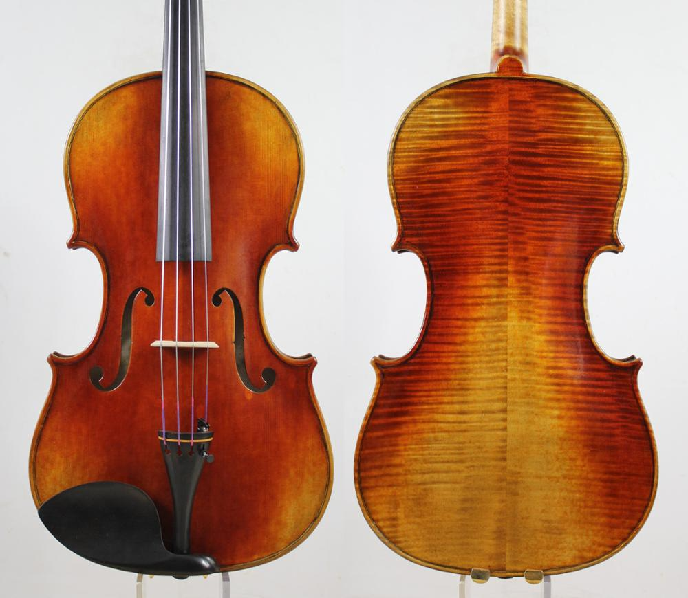 Antique Vanish! A Strad Viola Copy! Deep Warm Ton 16.5 Inch M5170