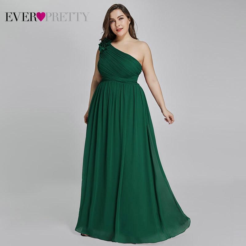 Plus Size Burgundy Chiffon Bridesmaid Dresses Long Ever Pretty EP08237 A-Line Sleeveless Elegant Formal Wedding Guest Gowns 2020