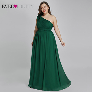 Image 2 - Plus Size Burgundy Chiffon Bridesmaid Dresses Long Ever Pretty EP08237 A Line Sleeveless Elegant Formal Wedding Guest Gowns 2020