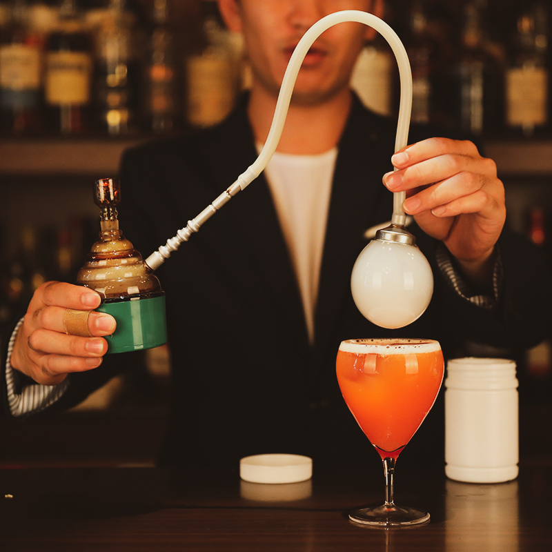 Moleculaire Cocktail Gerookte Geur Maker Koken Gerookte Vat Moleculaire Cocktail Tool Bar Wijn Rook Bubble Maker Elektronische Item