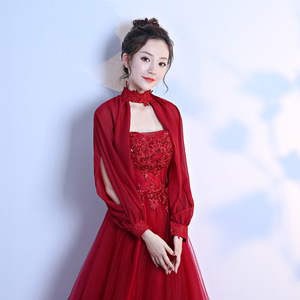 Image 5 - 9 Colors Lace Bridal Stoles Wraps Summer Women Bolero Wedding Coat Shawl Elegant Evening Jacket Cape Mariage