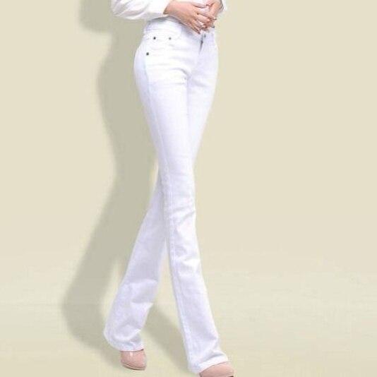 2020 black white Mid Waist Denim Jeans Women White Black Jeans Spring Autumn Ladies Pants Jeans Female Paddy Trousers AQ335