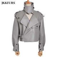 Frauen Aus Echtem Leder Jacke Neue Mode 8 Farben Leder Mantel Dame 2019 Schaffell Leder S7547