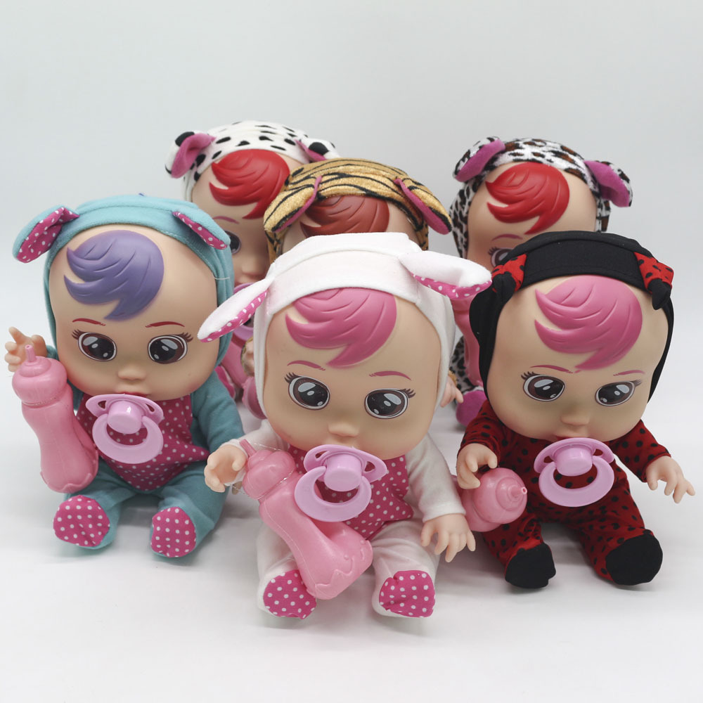 8 Polegada 3d silicone inteiro realista boneca renascer chorar um bebê de alta qualidade lágrimas mágicas bonecas brinquedos para crianças presente surpresa