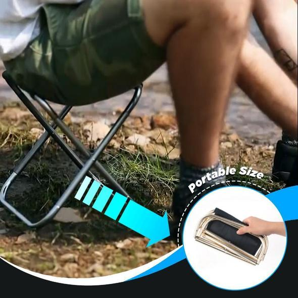 Ultra Lightweight Portable Folding Chair Outdoor Foldable Fishing Chair Camping Aluminum Alloy Picnic Fishing Chair With Bag