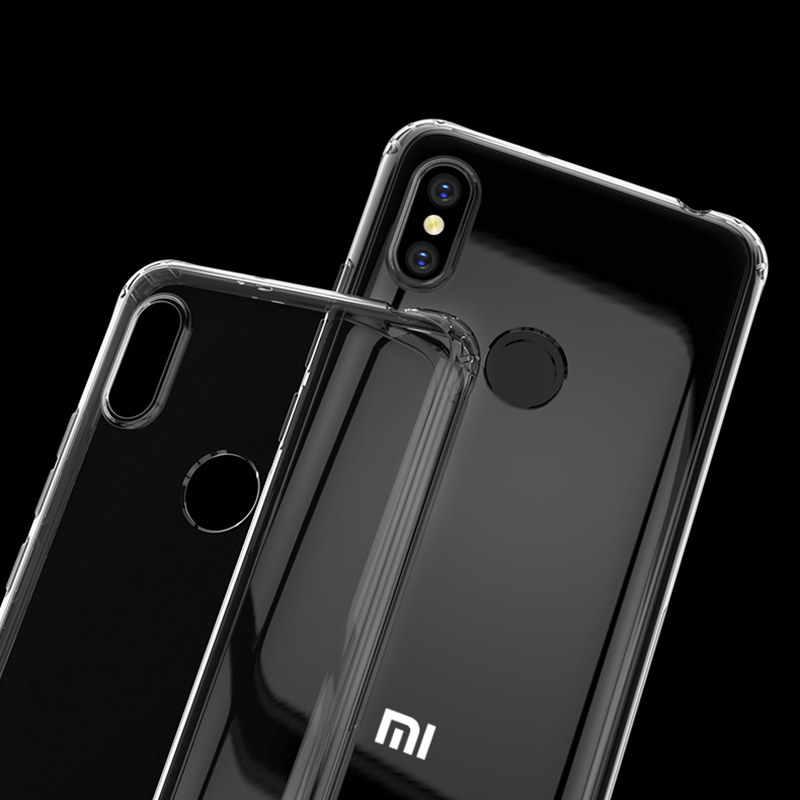 Caso de Telefone transparente Para Xiaomi Redmi 6 6A 7 7A 5 Plus K20 Pro à prova de choque Capa Para Nota Redmi 7 8 6 5 Pro fundos macio e fino