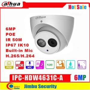 Dahua Ip Camera IPC-HDW4631C-A 6MP Dome Camera metal body POE Dahua 6 H.265 Built-in MIC IR50m IP67 IK10(China)